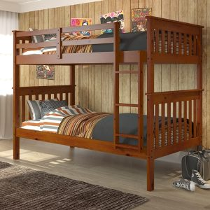 120-3-TTE twin over twin mission bunk bed espresso