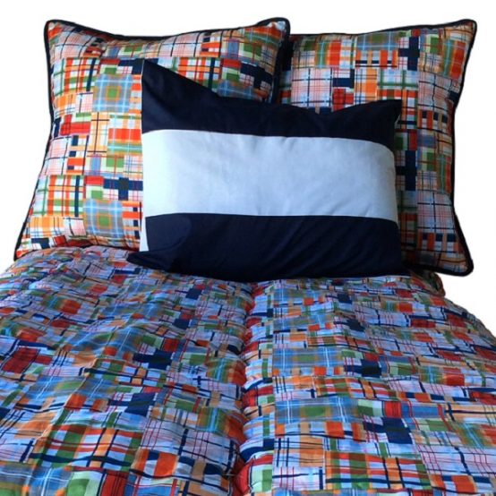 Journey Plaid Bedding for Bunk Beds