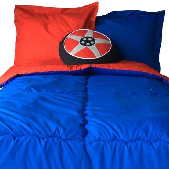 Solid Color Reversible Bunk Bed Hugger