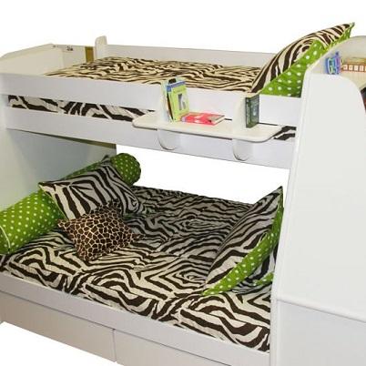 Zebby Zebra Bunk Bed Hugger Fitted Comforter