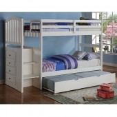 Arch Mission Stairway Bunk Bed with Trundle
