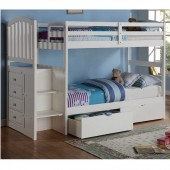 Arch Mission Stairway Bunk Bed with Under Bed Drawers