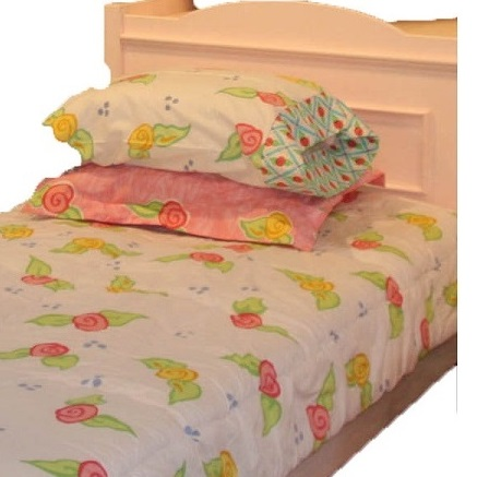 white floral bunk bed hugger