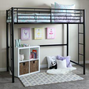 Black Metal Loft Bed