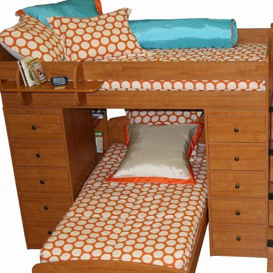 pumpkin dot bunk bed hugger