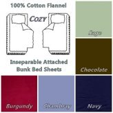 Cotton Flannel Bunk Bed Sheets