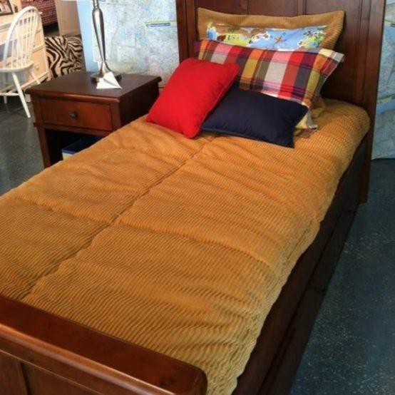 gold corduroy bunk bed hugger