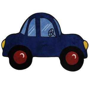 Blue Car Fun Rug