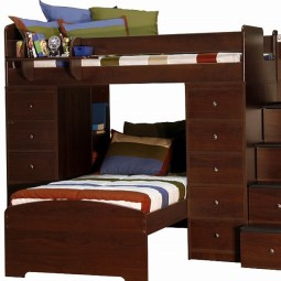 earth tones bunk bed hugger