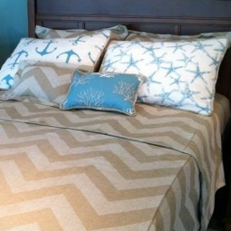 Zippy Chevron and Anchor bunk bed bedding