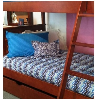 arctic blue see saw bunk bed hugger