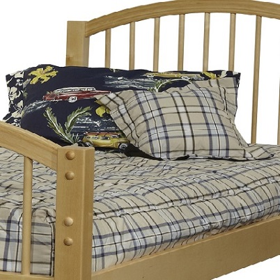 navy plaid bunk bed hugger