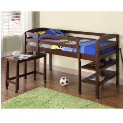 kids loft bed with desk