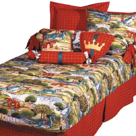 Small Dragon Bunk Bed Hugger & Sham