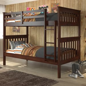 Twin Twin Mission Bunk Bed in Dark Cappuccino