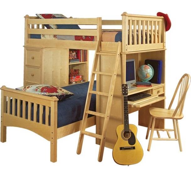 Solid color reversible bunk bed hugger fitted comforter for Reverse loft bed