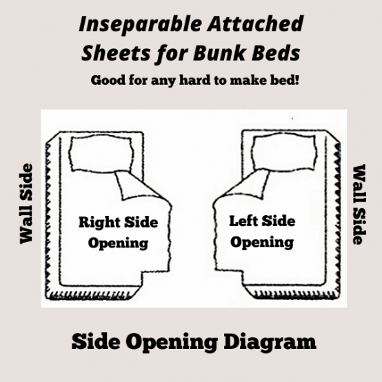 inseparable attached sheets for bunk beds