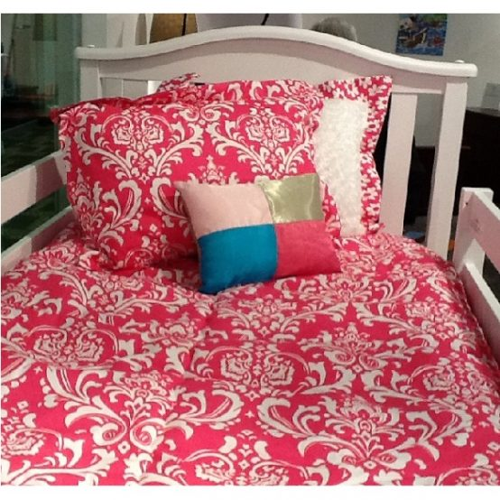 candy pink bunk bed hugger