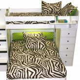 zebby zebra bunk bed hugger