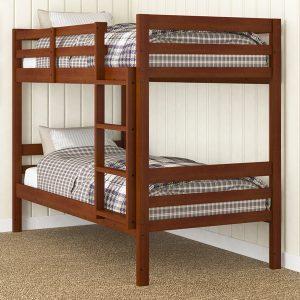 2004-TTE econo panel bunk bed espresso twin twin