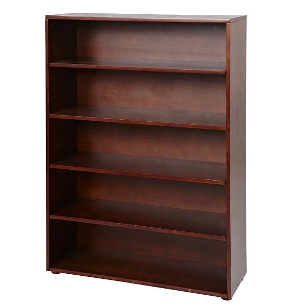 5 shelf bookcase in white natural or chestnut. Black Bedroom Furniture Sets. Home Design Ideas