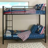 Black Metal Twin over Twin Bunk Bed