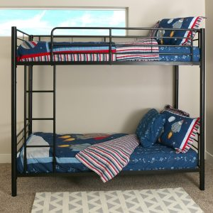 Metal Twin over Twin Bunk Bed - Black