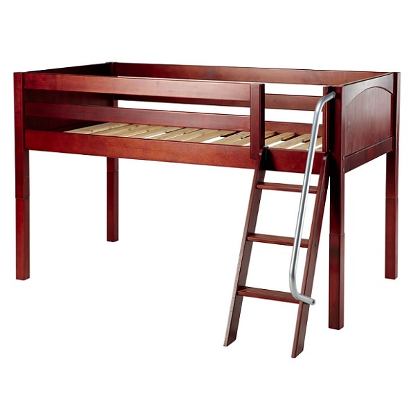 loft bed frame twin low loft hardwood 3 finishes