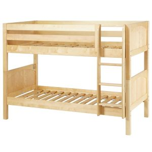 low hardwood kids bunk beds