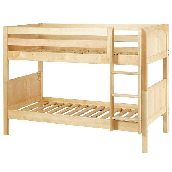 low hardwood kids bunk beds