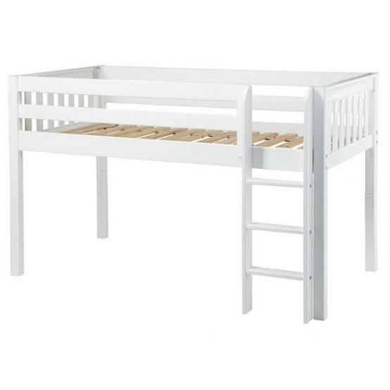 low loft bed twin