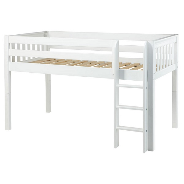 Low Loft Bed Twin Hardwood Twin Low Loft Bed With Straight Ladder