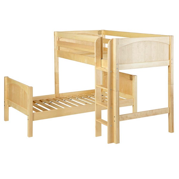 L Shaped Bunk Beds Twin Parallel And L Shaped Wood Bunk Bed With