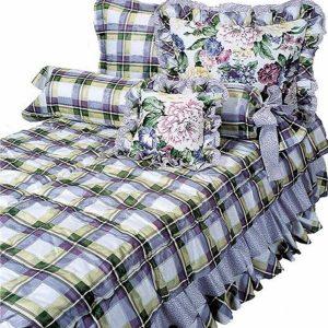 lavender floral bunk bed hugger