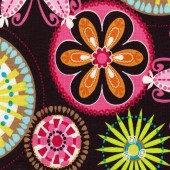 lolli brown flower fabric 600