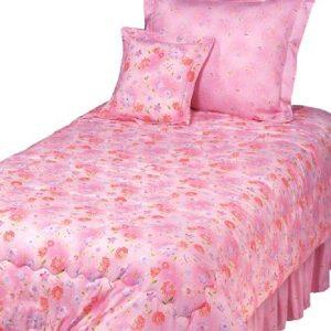 pink floral bunk bed hugger