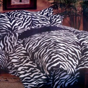 zebra print bunk bed cap