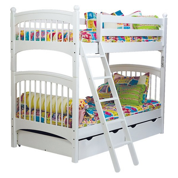 Hearts Bunk Bed Hugger Fitted Comforter