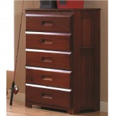 2855 merlot 5 drawer chest 600