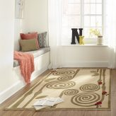 Curly Fern Ivory Area Rug for Kids Rooms