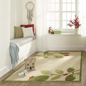 LMJ06 Modern Birdie Ivory Area Rug for Kids Rooms