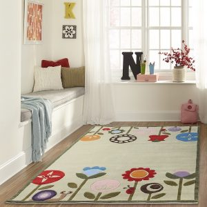 LMJ07 Modern Garden Grass Themed Area Rugs for Kids Rooms