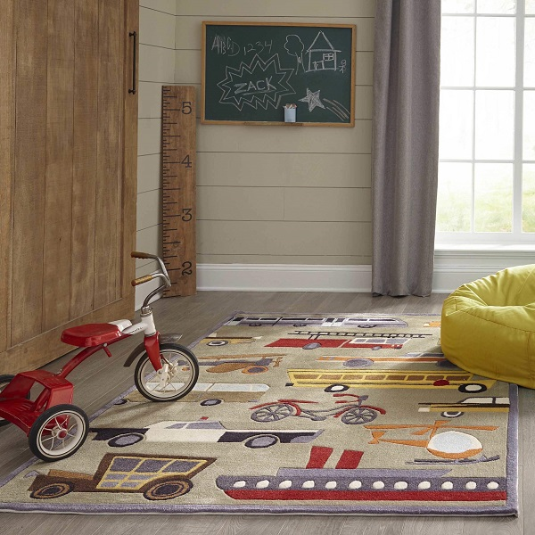 lmj08 transportation concrete themed area rugs for kids rooms