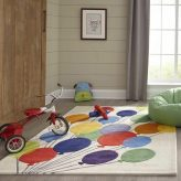 Party Balloons Themed Area Rug for Kids Rooms