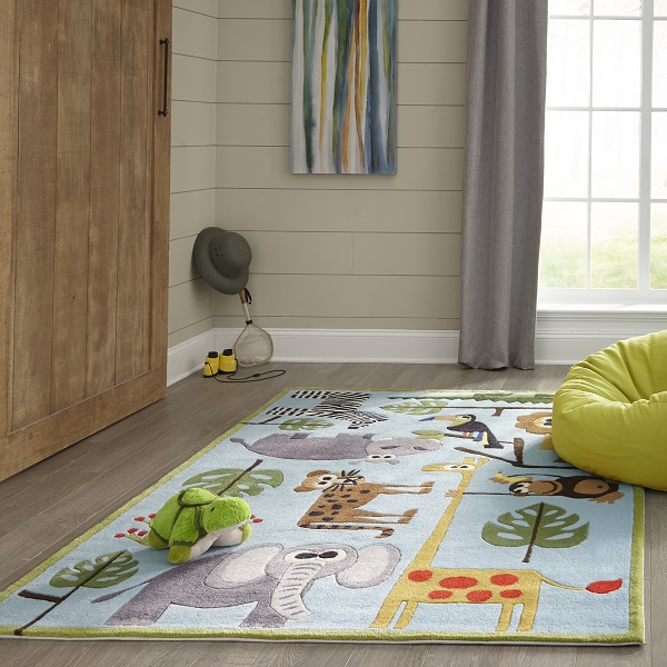 Safari Rug 100 Polyester Hand Tufted Kids Safari Rug