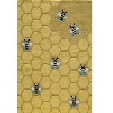 honeycomb & bee rug for kids rooms