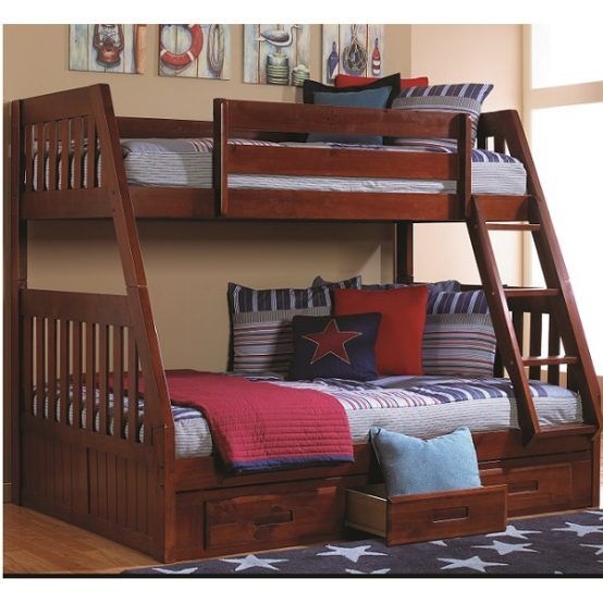 Twin Full Wooden Bunk Beds