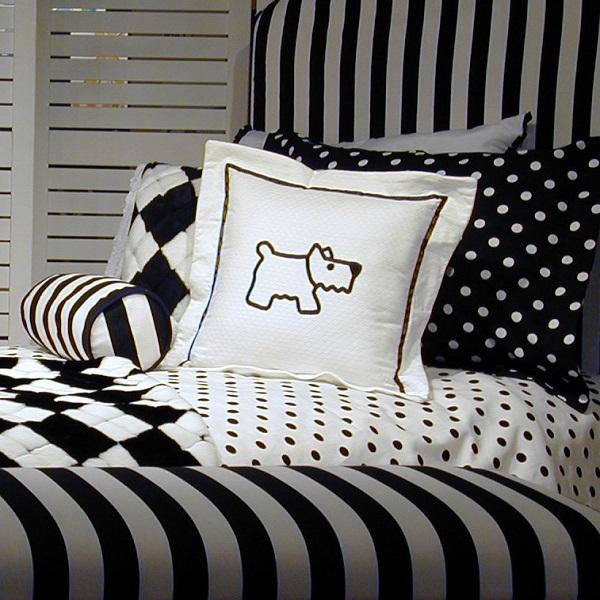Metro Black White Bunk Bed Hugger Dots Or Stripes