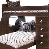 pink brown bunk bed hugger