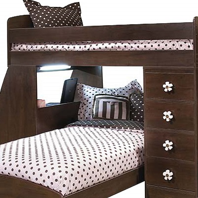 pink brown bunk bed hugger